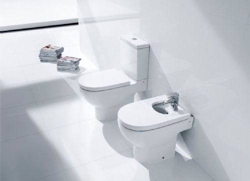 Roca Meridian-N Floor Standing Bidet - Soft Close Bidet Cover - 1 Tap Hole - White